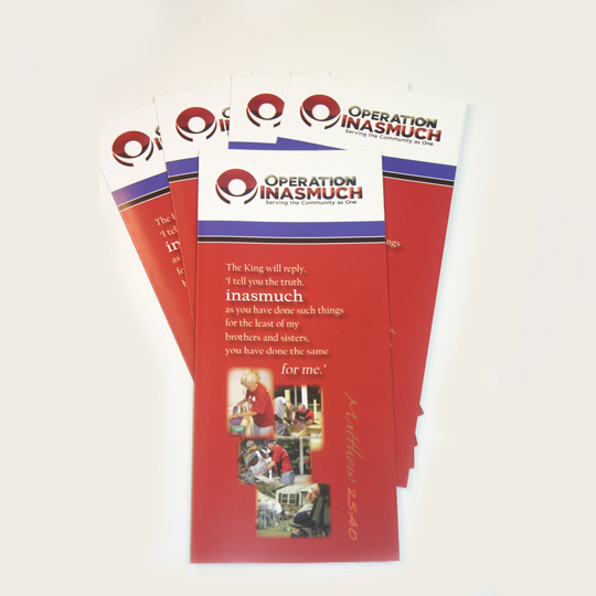 Operation Inasmuch Brochures