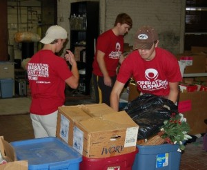 University of Tennessee BXY Fraternity students during their Inasmuch event.