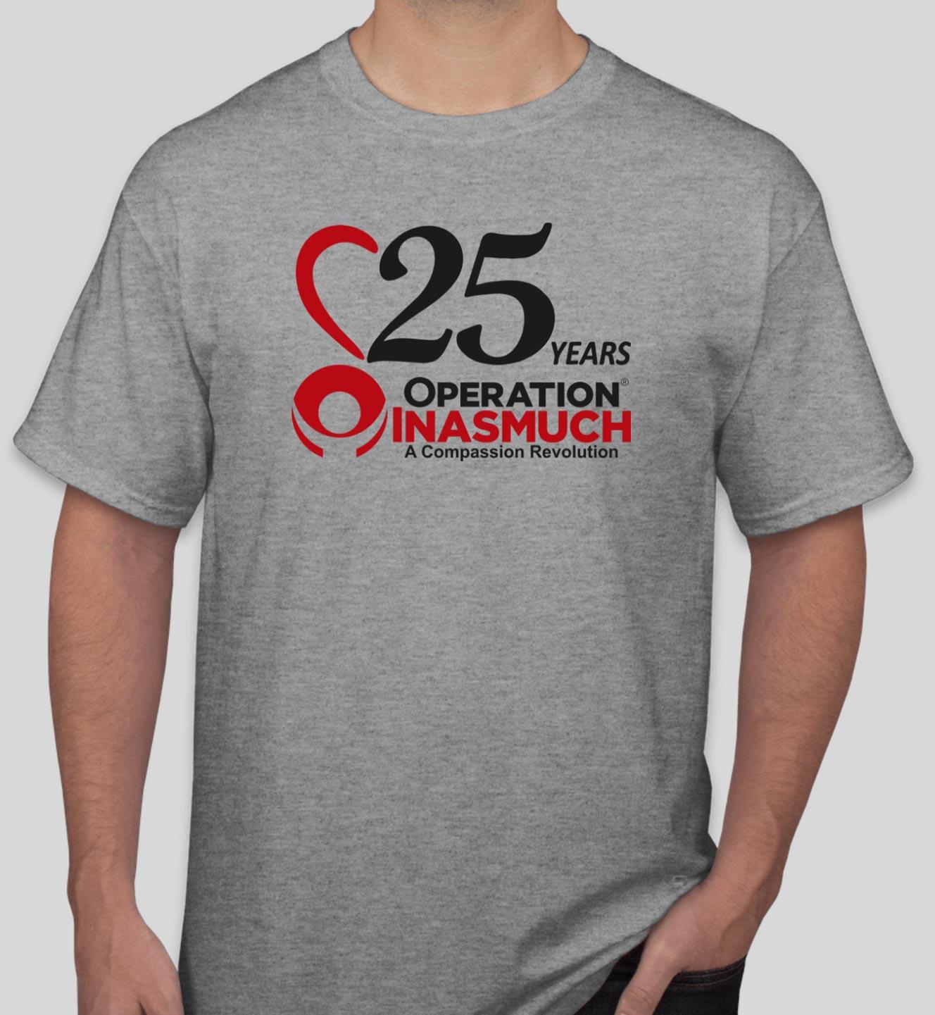 25th Anniversary Shirt Front
